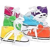Bonka Bird Toys 6 Mini Sneakers Colorful Cotton Shredding Parrot Parrotlet Budgie Finch Cockatoo