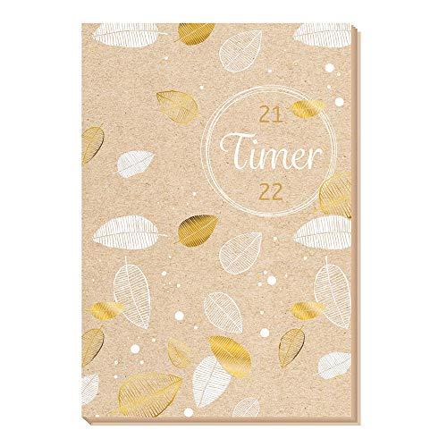 Schülerkalender Flexi, Nature, 2021/2022, Hausaufgabenheft für die Schule: Schulplaner Hausaufgabenheft Timer Terminkalender