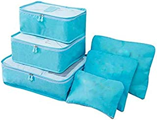 gs GREATERSCAP Multi-Functional Storage Travel Bag with Packing Cubes Laundry Bag and Compression Pouches - Pack of 6