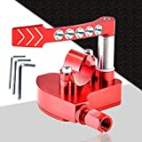 7/8 Universal Billet Throttle Thumb Assembly - by HuthBrother, Compatible with YAMAHA Banshee Raptor 350 660 700 HD TRX 400EX TRX 250R 450R Suzuki LTR450 250 500 LTZ400 250 500R Kawasaki (red)