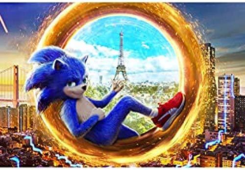 WOMGD® Cartoon Anime Legpuzzel 1000 stukjes, Sonic houten puzzels, Educatief spel Stress Reliever Moeilijk uitdagingsspeelgoed voor kinderen