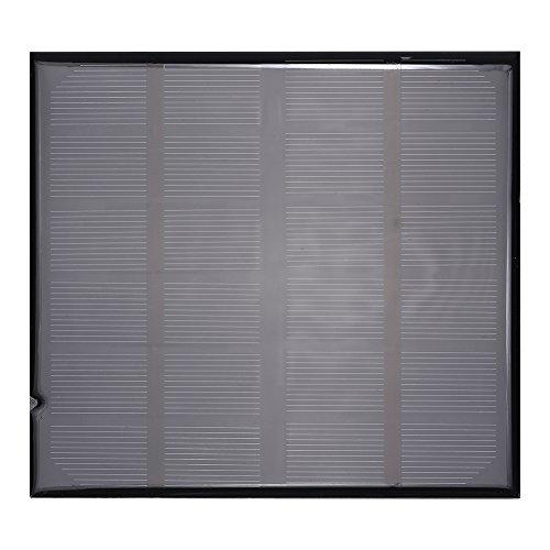 Solar-Ladegerät, 6 V, 2 W, hocheffizientes polykristallines Silizium-Solarpanel, Mini-Solarenergie-Ladegerät für 3,7 V Akku