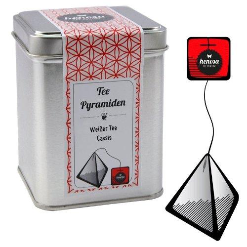 Henosa Weißer Tee Cassis Pyramiden