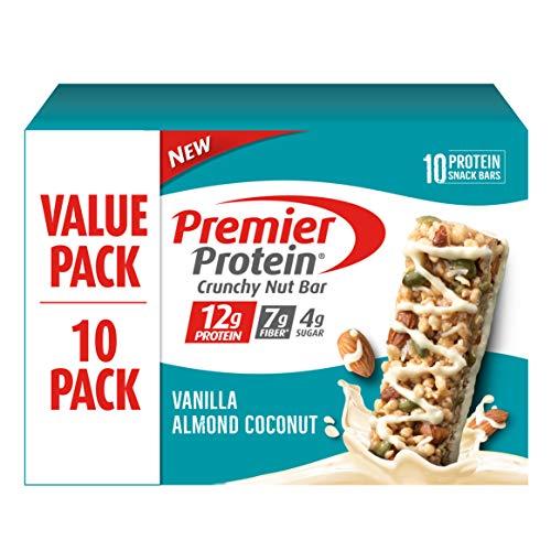 Premier Protein Crunchy Nut Bar, Vanilla Almond Coconut, 10 Count