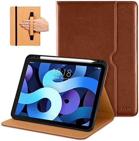 DTTO Compatible with iPad Air 4 Case Premium Leather Business Folio Stand Cover with Built in product image