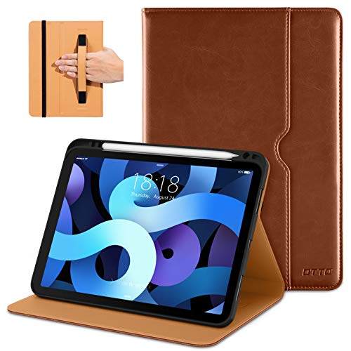 DTTO Leather Folio with Built-in Apple Pencil Holder for iPad Air 10.9