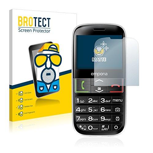BROTECT 2X Entspiegelungs-Schutzfolie kompatibel mit Emporia Euphoria V50-3G Bildschirmschutz-Folie Matt, Anti-Reflex, Anti-Fingerprint
