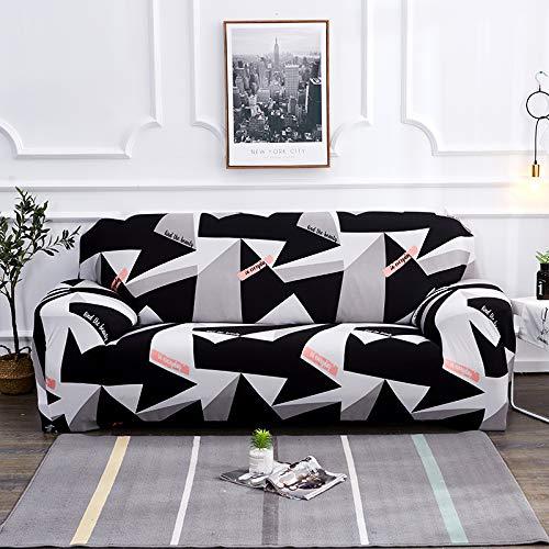 Funda de sofá, tamaño universal, funda de sofá de 1/2/3/4 plazas, elástica, fundas de sofá, fundas de almohada, decoración del hogar para sofás (color: K209, especificación: AB 235 300 cm)