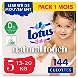 Lotus Baby Natural Touch - Culottes Taille 5 (13-20 kg) - lot de 4 packs de 36 culottes (x144 Culottes)