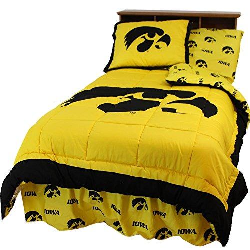 College Covers Iowa Hawkeyes Reversible Comforter Set - Queen