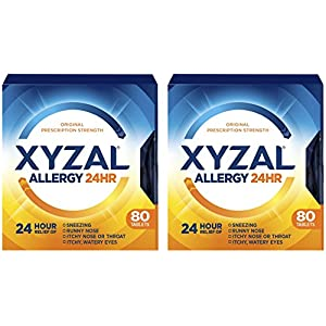 Xyzal Allergy 24HR – 80 Count Tablets Per Box – Pack of 2 Boxes