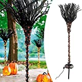 NFSQSR Halloween Witch Pre Lit Broomstick Outdoor Decorations, Halloween Lighted Broomstick Pathway Markers, Halloween Witch's Brooms Spooky Outdoor Lights, Lighted Witch Broomstick, for Patio, Yard
