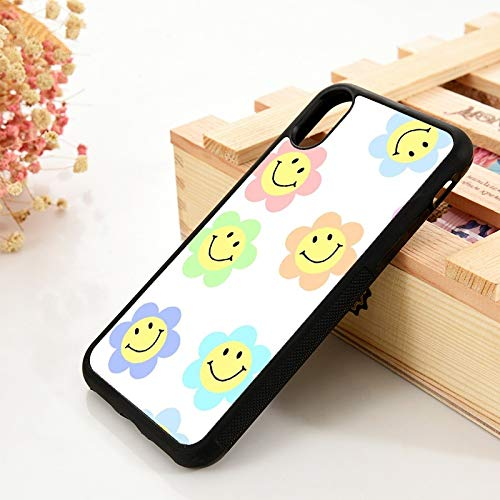 WGOUT para iPhone 5 5S 6 6S TPU Funda de Gel de sílice   para iPhone 7 Plus XX 11 Pro MAX XR Pastel Smiley Bunga Pack, para iPhone 11 Pro