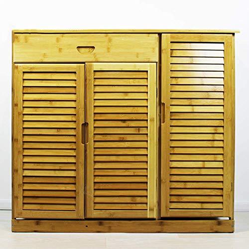 ZAIHW Zapatero Bambú Caja de Zapatos a Prueba de Polvo de múltiples Capas Simple Caja de Almacenamiento de Entrada de ensamblaje Simple y Moderno (Color: 99 * 33 * 87 cm, Tamaño: Sin cajón)
