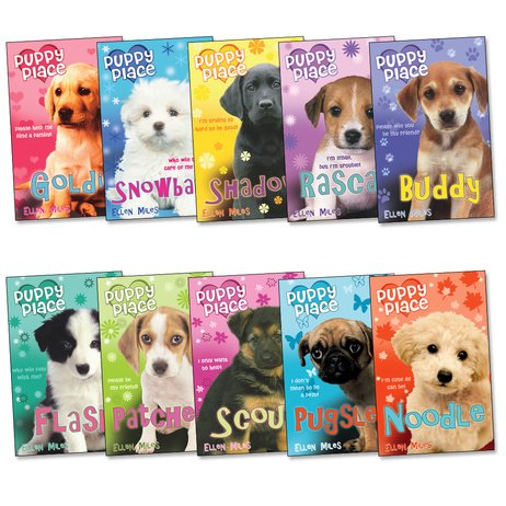 Puppy Place Pack, 10 books, RRP £39.90 (Goldie; Snowball; Shadow; Rascal; Buddy; Flash; Scout; Patches; Pugsley; Noodle).