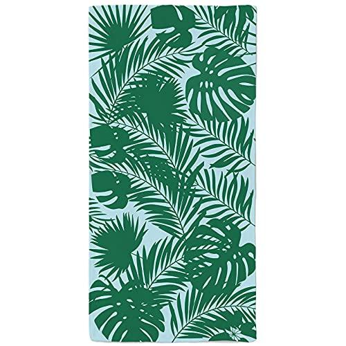 onetoze Toalla de Playa Palm Toallas de Acampada Hombre Mujer Infantiles Toallas para Piscina Natación Seque Rápidamente, Absorbente Toallas Ducha Viaje Picnic, 90x180cm