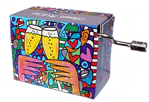 Happy Birthday James Rizzi Spieluhr Mini Drehorgel / Kurbelwerk