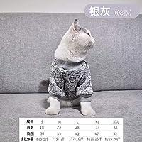 XINGGUANG暖かい猫服ペットパーカー子犬コスチューム犬コート衣装ジャケットパーカー冬ペットあっぱれため保温 BB50WYペット服 猫