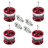 EMAX Cf2822 1200kv Brushless Motor W/Prop Adapter for Multicopter Quadcopter(Pack of 4pcs)