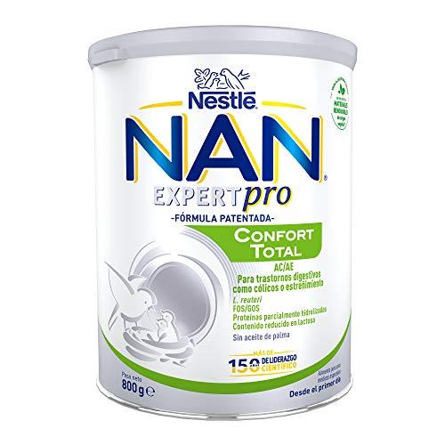 NAN Confort Total - Alimento en polvo para el tratamiento dietético de trastornos digestivos leves, fórmula para bebé, desde el primer día, 800 g
