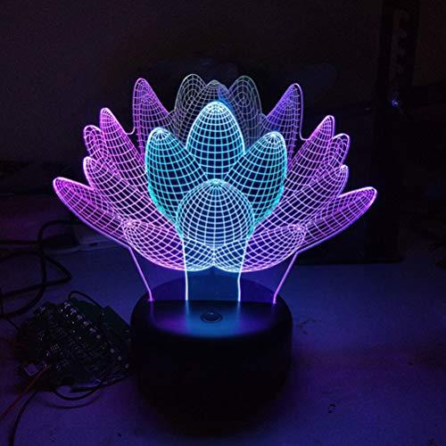Uonlytech - Lámpara de noche con ilusión 3D para plantas, ideal como regalo de cumpleaños, bodas, decoración para fiestas y dormitorios