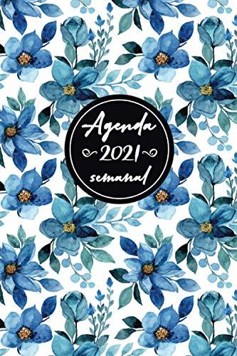 Agenda semanal 2020-2021: organizador de agenda, planificador diario, calendario semanal 2021, 12 meses, agenda