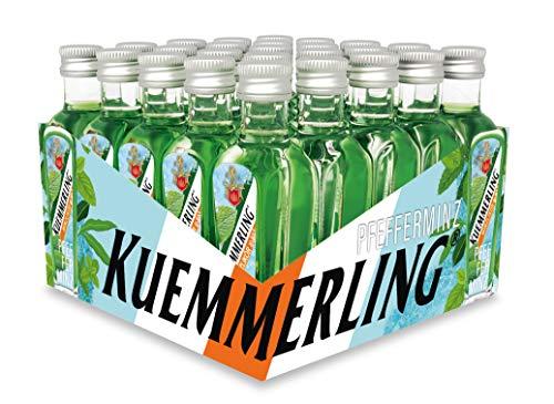 Kuemmerling Pfefferminz, Likör, 21% Alkohol (25 x 0,02l Flasche) - Minzfrischer Wind mit dem Neuling der Kuemmerling Familie