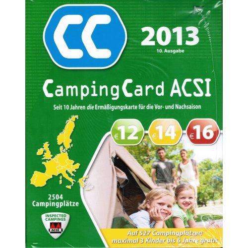 ACSI Camping Card 2013 + Ermäßigung in der Nebensaison auf 2504 Campingplätzen für 2 Erwachsene