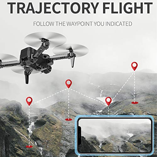 Goolsky CSJ S171 PRO RC Drohne mit Kamera 4K Mini Drohne Dual Kamera Faltbarer Quadcopter für Kinder mit Funktion Flugbahn Flug Headless Modus 3D Flug Auto Hover One Key Start Landung One Key Return
