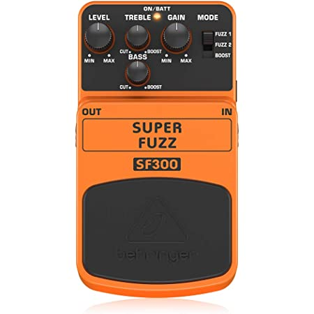 Behringer Super Fuzz SF300 3-Mode Fuzz Distortion Instrument Effects Pedal,Peach