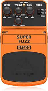 Behringer SF300 - Pedal de distorsión para guitarra, color naranja