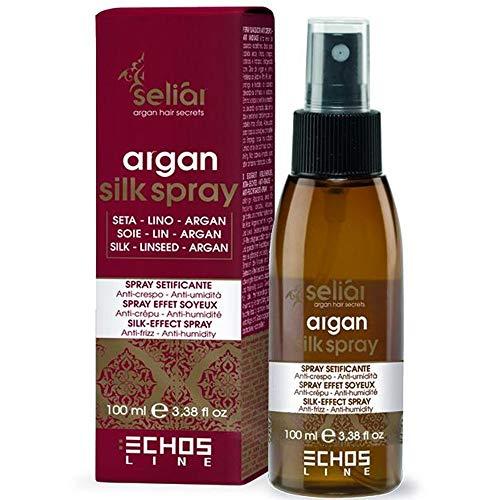 Echos Line Seliar Argan Silk Spray/Silk-effect spray Anti-Frizz and Anti-humidity 3.38 Oz Free Starry Sexy Kiss Lip Plumping 10 Ml by ECHOS LINE