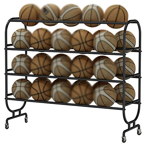 Cesta de recogida de bola Cesta Pantalla de fútbol Baloncesto Almacenamiento de baloncesto Escuela Organizador de baloncesto Cesta de recogida de bola ( Color : Black , Size : 108x38x139cm )