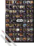 1art1 Star Wars Poster (91x61 cm) Charaktere, Daten