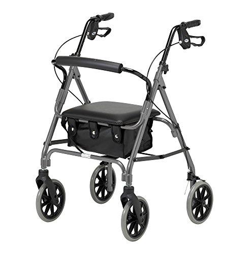 Andador con ruedas ligero plegable de cuatro ruedas Days con asiento acolchado,...