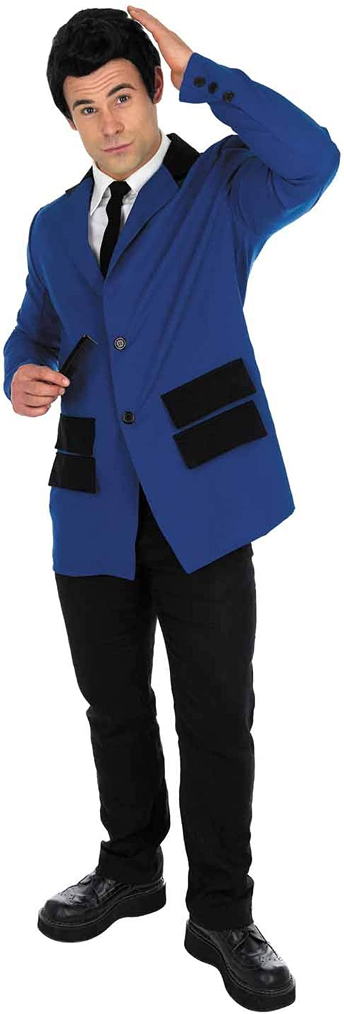 1950s Men's Clothing Fun Shack 50s Costume Men Blue Adult Halloween Costume Available In Medium Large XL  AT vintagedancer.com