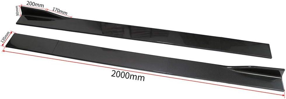 Universal 2M//78.7 ABS Carbon Fiber Look Side Skirts Rocker Panel Extension Lip