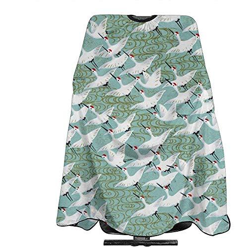 Kapsel Schort Japan Kraan Vogel Print Kleurplaten Salon Haar Styling Bewijs Kapper Kappers Aprons Jurk Haar Snijden Professionele Kapper Cape