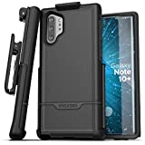 Encased Galaxy Note 10 Plus Belt Clip Protective Holster Case (2019 Rebel Armor) Heavy Duty Rugged Full Body Cover w/Holder for Samsung Note 10+ (Black)