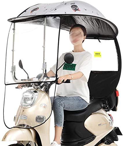 Universal-Regenschutz,Abdeckung Für Elektromobil,Regenschirm Mobilität Sonnenschutz Regen-Abdeckung, Elektrischer Fahrrad-Sonnenschutz Schutz Regen-Abdeckung Mit PVC-Windschutzscheibe, Sonnenblende