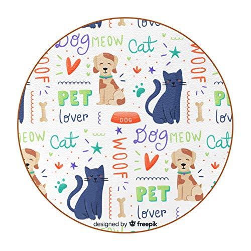 6 posavasos divertidos para bebidas, varios estilos, adecuado para vasos de cerveza, vasos de café, tazas diarias, lindo perro gato gatito colorido Doodle