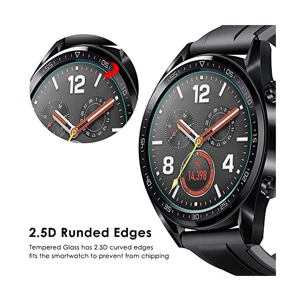 CAVN Compatible con Huawei Watch GT Protector de Pantalla, [4 Packs] Impermeable Vidrio Templado Protector de Pantalla… 5
