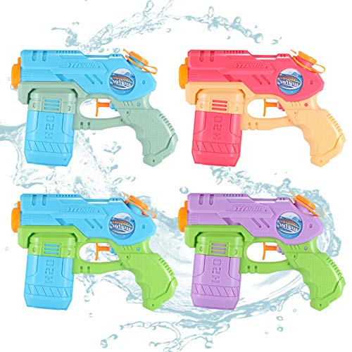 OMWay Water Guns for Kids, 4 Pack Soaker Squirt Guns,Yard Games for Toddlers, Easter Birthday Gifts for 3 4 5 6 7 8 Year Old Boys Girls, Water Toys for Kids Backyard Pool Beach Outdoor.