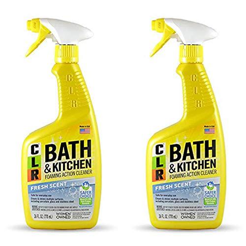 Jelmar Pb-Bk-2000 Clr Fresh Scent Bath And Kitchen Cleaner, 26 Oz Trigger Spray Bottle, 2pack