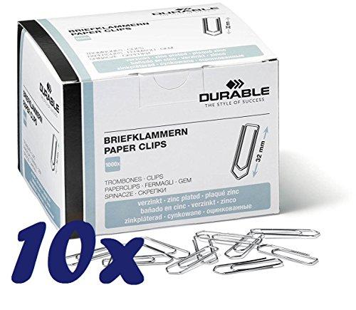 Preisvergleich Produktbild Durable Briefklammern (32mm / 10.000 Stück)