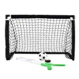 Sport Squad Mini 2-in-1 Dual Sport Training Soccer and Hockey Goal Net Set - One 3' x 2' Training Hockey or Soccer Goal - Easy Assembly and Compact Storage - Great for Kids and Adults