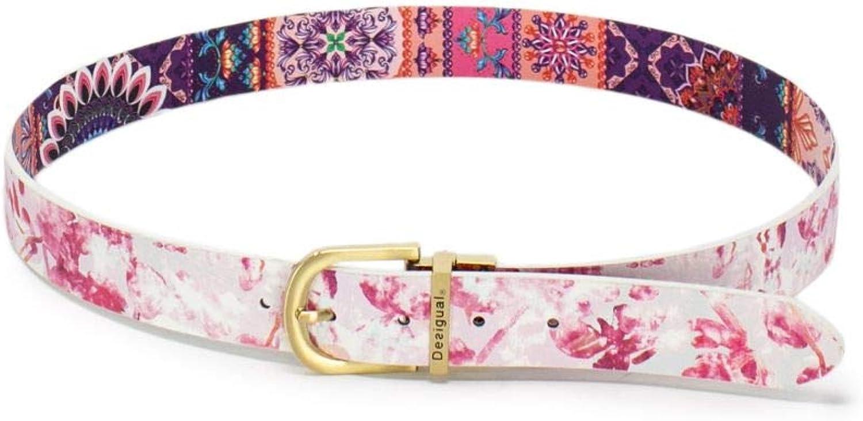 Desigual Women's 19SARP11PINK Pink Faux Leather Belt