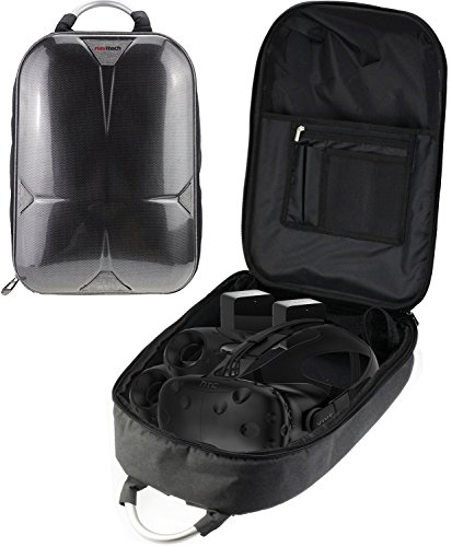 Navitech Rugged GreyBackpack/Rucksack/Travel Case/Case Compatible with The ONN White Virtual Reality VR