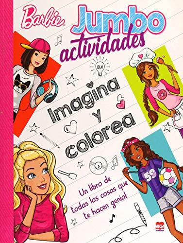 Barbie: Jumbo actividades imagina y colorea