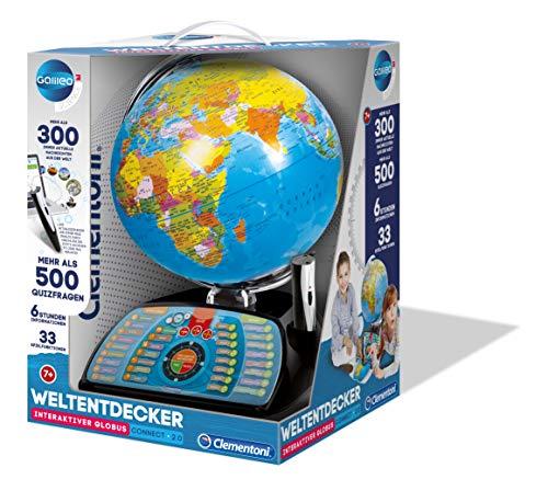 Clementoni 59095 Galileo Science – Interaktiver Globus Connect 2.0, sprechende Weltkugel mit Fragen & Fakten, Spielzeug für Kinder ab 7 Jahren, Lernspielzeug